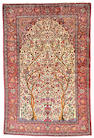 A Silk Kashan rug Central Persia, size approximately 4ft. 4in. x 6ft. 7in.