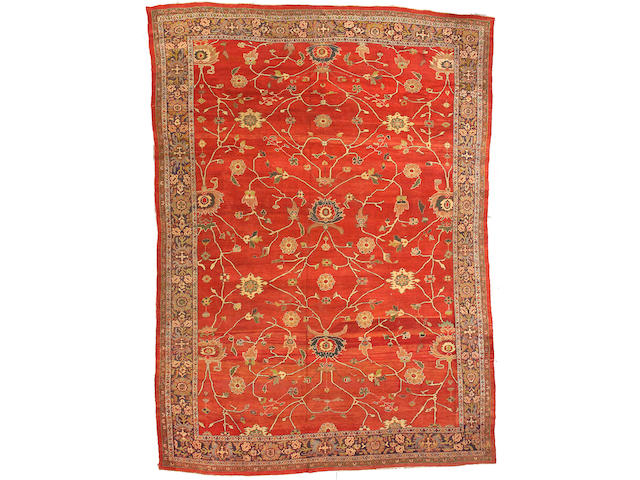 A Sultanabad carpet Central Persia, size approximately 10ft. 2in. x 14ft. 2in.
