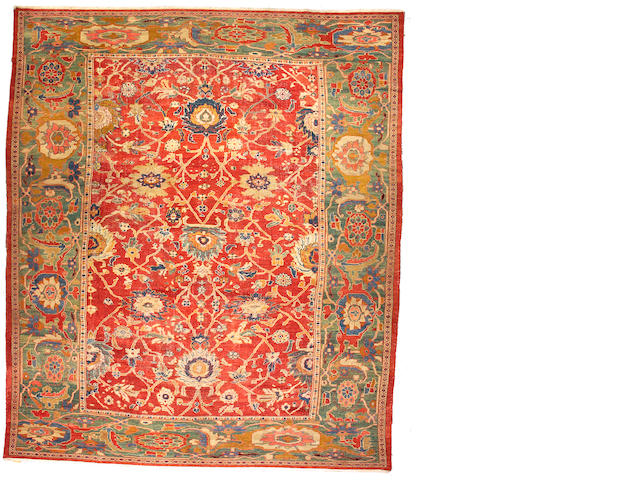 A Ziegler carpet Central Persia, size approximately 13ft. 6in. x 16ft.