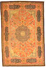 An early 19th century silver metallic thread Hereke carpet West Anatolia size approximately 5ft. 11in. x 8ft. 10in.