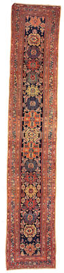 A Malayer runner Central Persia,  size approximately 2ft. 11in. x 15ft. 11in.