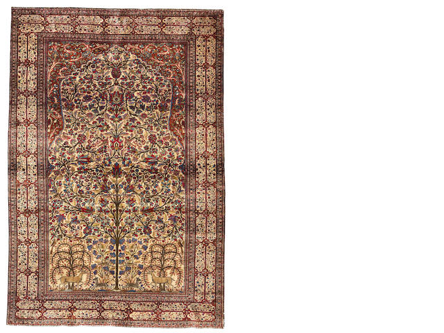 A Mohtasham Kashan rug  Central Persia, size approximately 4ft. 5in. x 6ft. 5in.