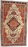 A Fereghan Sarouk long carpet Central Persia, size approximately 6ft. 8in. x 11ft. 2in.
