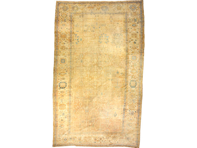 A Sultanabad carpet Central Persia size approximately 19ft. 3in. x 11ft. 7in.(cut)
