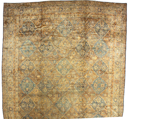 A Kerman carpet  Central Persia, size approximately 29ft. 6in. x 14ft. 7in