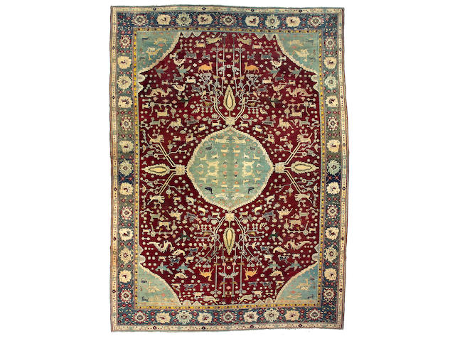An Agra carpet India, size approximately 10ft. 3in. x 14ft. 2in.