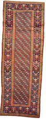 A Kurdish runner Northwest Persia, size approximately 3ft. 4in. x 10ft. 1in.