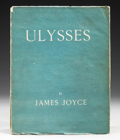 Joyce, James.  Ulysses. Paris: 1922. 1st Ed, one of 750 on handmade paper. 4to, orig   wraps; wear and some loss to spine.