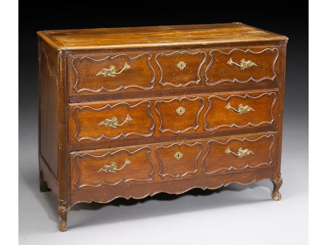 A Louis XV oak commode