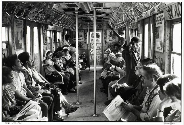 Danny Lyon (American, born 1942); IRT Subway, N.Y.C.;
