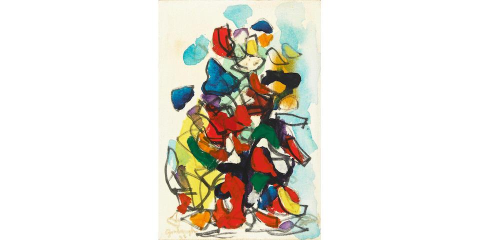 Robert Arthur Goodnough (American, born 1917) Standing Figure, 1965 12 x 8in
