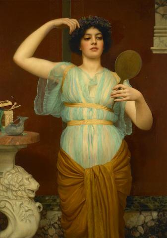 John William Godward, RBA (British, 1861-1922) Ione 50 1/4 x 35 1/4in (127.5 x 89.4cm)
