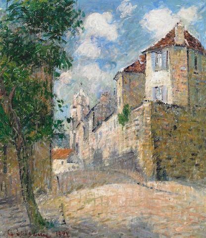 Gustave Loiseau (French, 1865-1935) La vue de la cour à Pontoise, 1922 25 x 20in (64 x 51cm)
