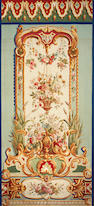 A pair of Napoleon III Aubusson tapestry panels