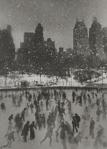 Edward Pfizenmaier (American, born 1926); Wollman Rink, Central Park, New York; Empire State Bldg., N.Y.C.; (2)