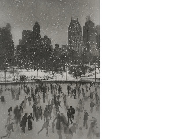Edward Pfizenmaier (American, born 1926); Wollman Rink, Central Park, New York; Empire State Bldg.,