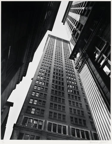 Berenice Abbott (American, 1898-1991); Canyon, Broadway and Exchange Place, Manhattan;