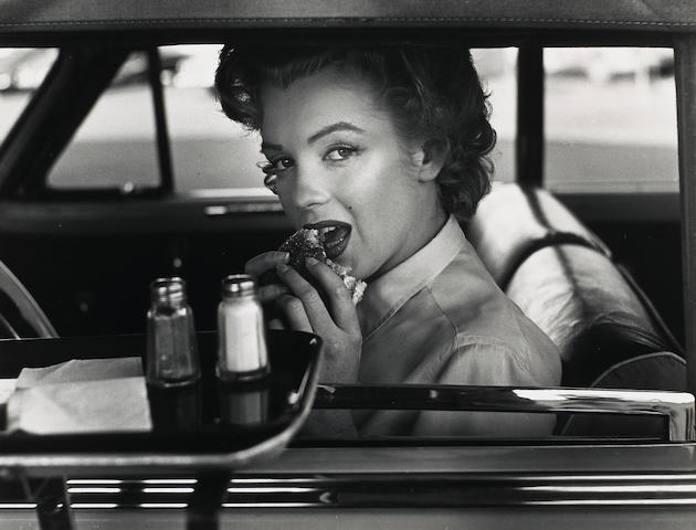 Philippe Halsman (American, 1906-1979); Marilyn Monroe at the Drive-in;