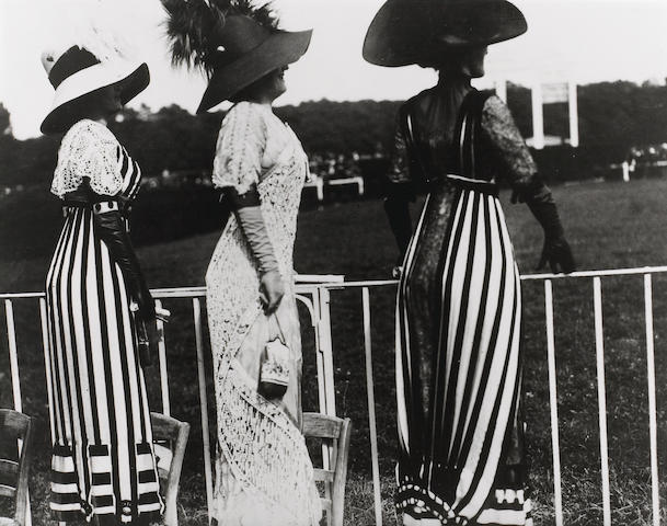 Jacques-Henri Lartigue (French, 1894-1986); Carriage Day At the Races, Auteuil, Paris;