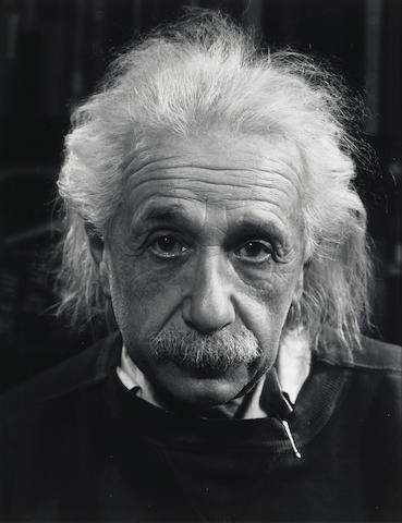 Philippe Halsman (American, 1906-1979); Albert Einstein;