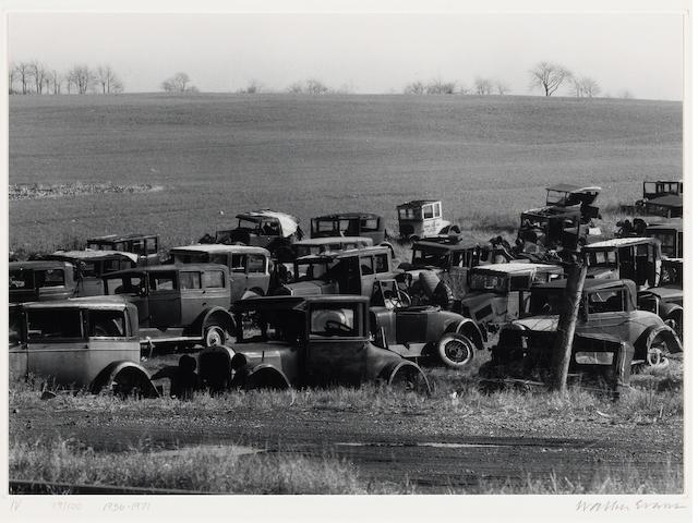 Walker Evans (American, 1903-1975); Joe's Auto Graveyard, Near Bethlehem, Pa.;