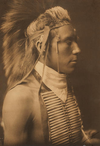 Edward S. Curtis (American, 1868-1952); Portrait of a Crow Warrior;