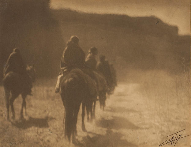 Edward S. Curtis (American, 1868-1952); The Vanishing Race, Navaho;