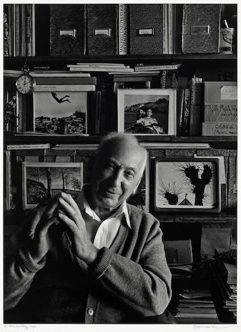 Arnold Newman (American, 1918-2006); Portrait of André Kertész in his office;
