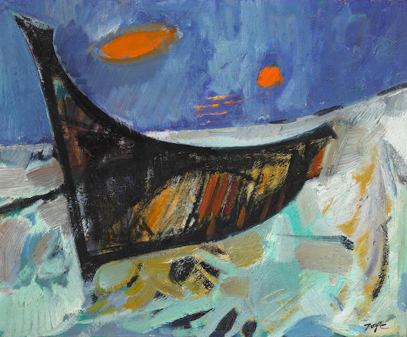 Jack Zajac, Untitled (Bird), oil on canvas