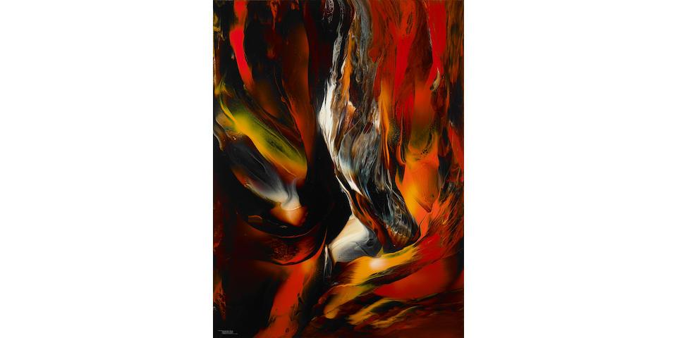 Leonardo Nierman (Mexican, born 1932) Pájaro de fuego 48 x 35 1/2in