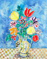 Paul Aizpiri, Fleurs, pitchet, Allemand, oil on canvas