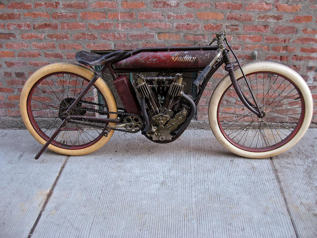 First Indian Motorcycle Built in 1912,1912 Indian 61ci Board-Track Racing Motorcycle Engine no. 700001