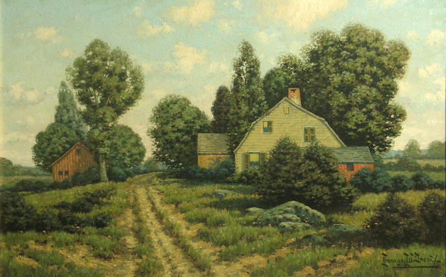 George W. Drew (American, 1875-1968) Turn Pike Road 16 x 24in