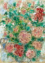 AUTHENTICATION - Marc Chagall, Flowers & Couple, Gouache on paper, insurance value: $150,000