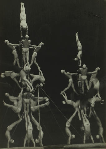 Alexander Rodchenko (Russian, 1891-1956); Circus acrobats (Theatre of People's Art, Moscow);