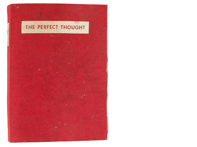 James Lee Byars (American, 1932-1997) Untitled (Reaction to The Perfect Thought) 10 1/2 x 1 3/4 x 8in (26.7 x 4.5 x 20.3cm)