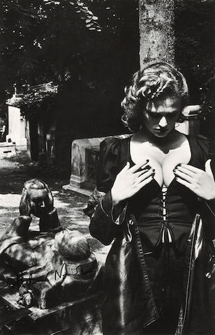 Helmut Newton (German, 1920-2004); Père Lachaise, Tomb of Talma, Paris;