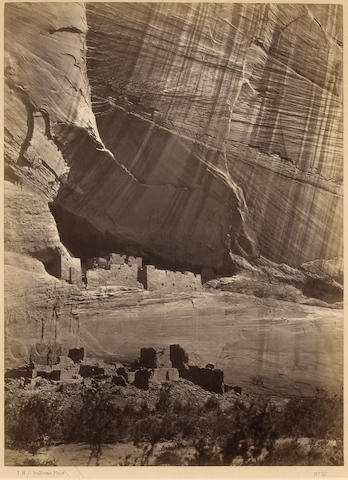 Timothy H. O'Sullivan (American, 1840-1882); Ancient Ruins in the Cañon de Chelle, N.M., No. 10;