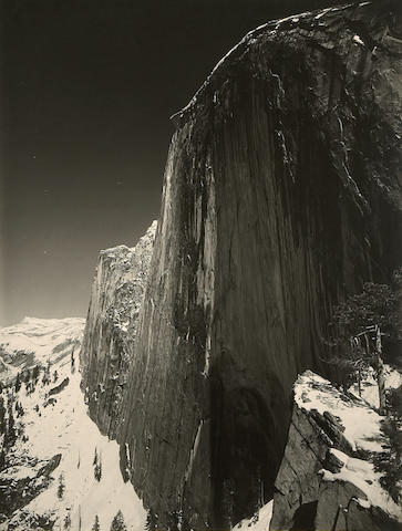 Ansel Adams (American, 1902-1984); Monolith-the face of Half Dome, Yosemite National Park;