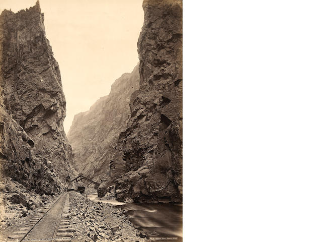 William Henry Jackson (American, 1843-1942); Royal Gorge, Grand Cañon of the Arkansas;