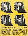 Wallace Berman (American, 1926-1976); Retard Para.33 Sec. 12.MM Kilo/mama Recanaan XX.8 Lunarseed Ja