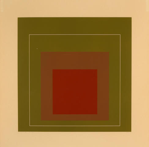 Josef Albers (American, 1888-1976); White Line Square IV, from White Line Squares;