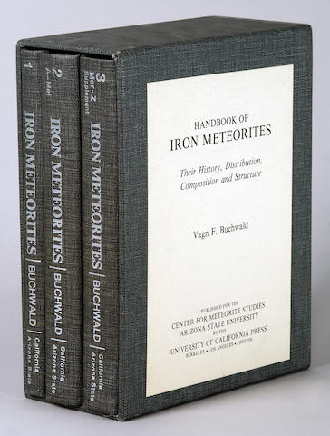 Handbook of Iron Meteorites — Buchwald's Preeminent Three Volume Survey of Iron Meteorites