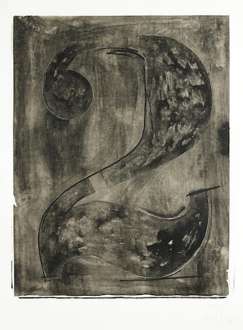 Jasper Johns (American, born 1930); Figure 2, from Black Numeral Series;