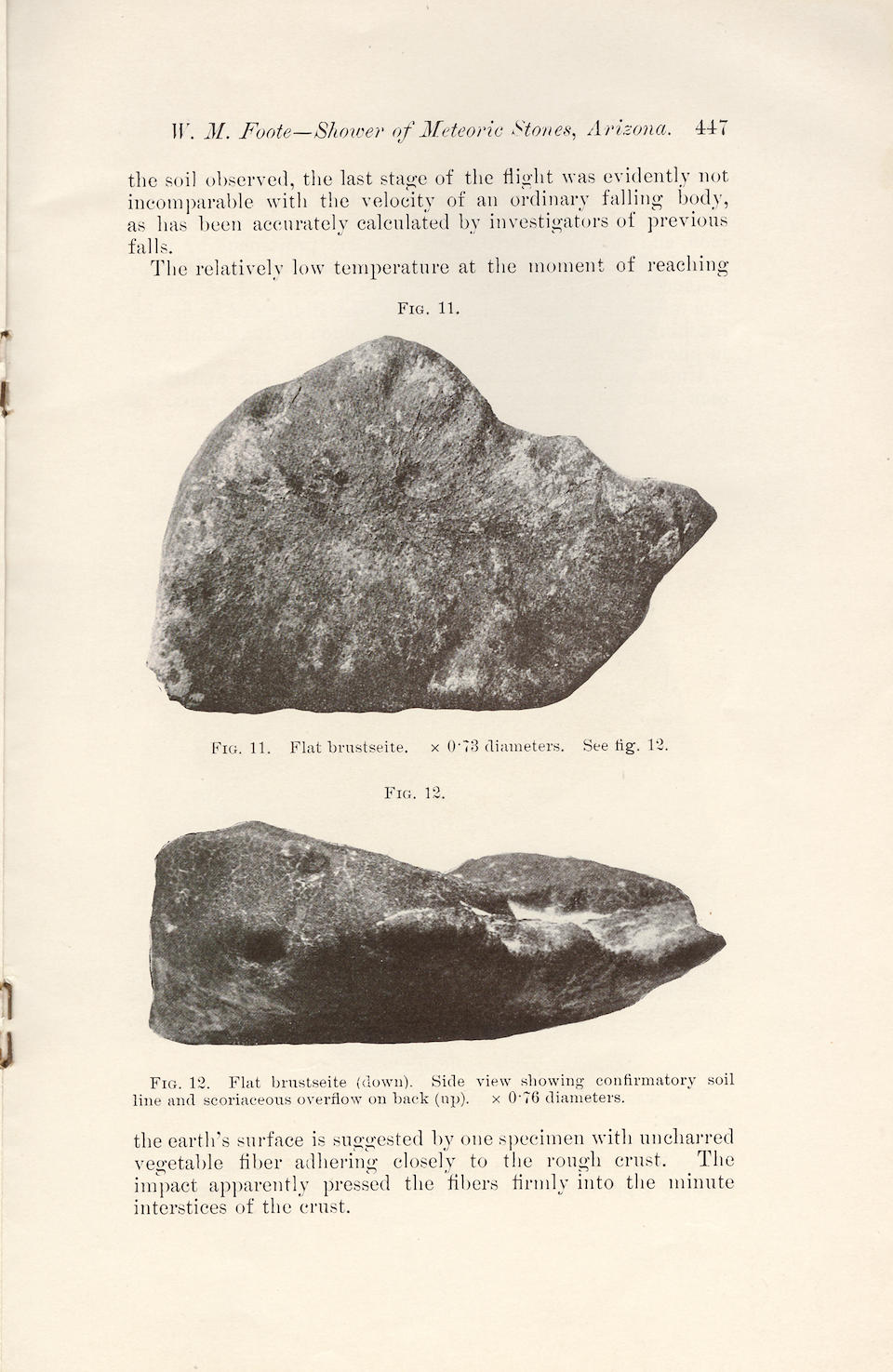 Holbrook — The Oriented Meteorite Depicted in Foote's 1912 Abstract and the Original Abstract