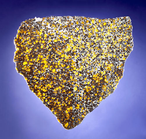 Imilac — Spectacular Complete Slice of a Meteorite with Gemstones And Who Said Baseball Isn't The Universal Sport?