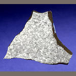 Willamette Meteorite — Complete slice of an Internal Pedestal
