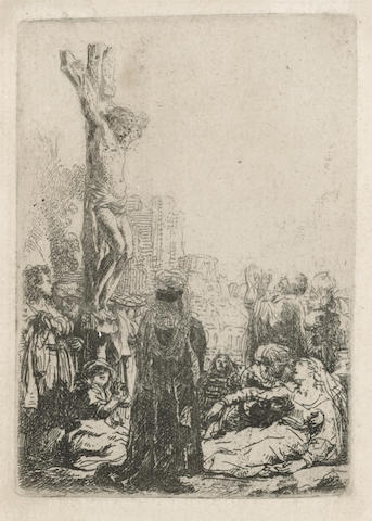 Rembrandt Harmensz van Rijn (Dutch, 1606-1669); The Crucifixion: Small Plate;