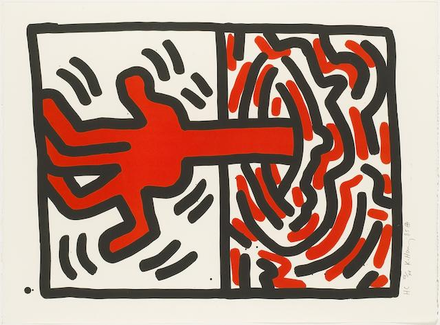 Keith Haring (American, 1958-1990); Ludo #5;