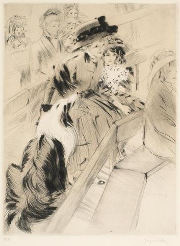 Jacques Villon (French, 1875-1963); Devant un guignol;